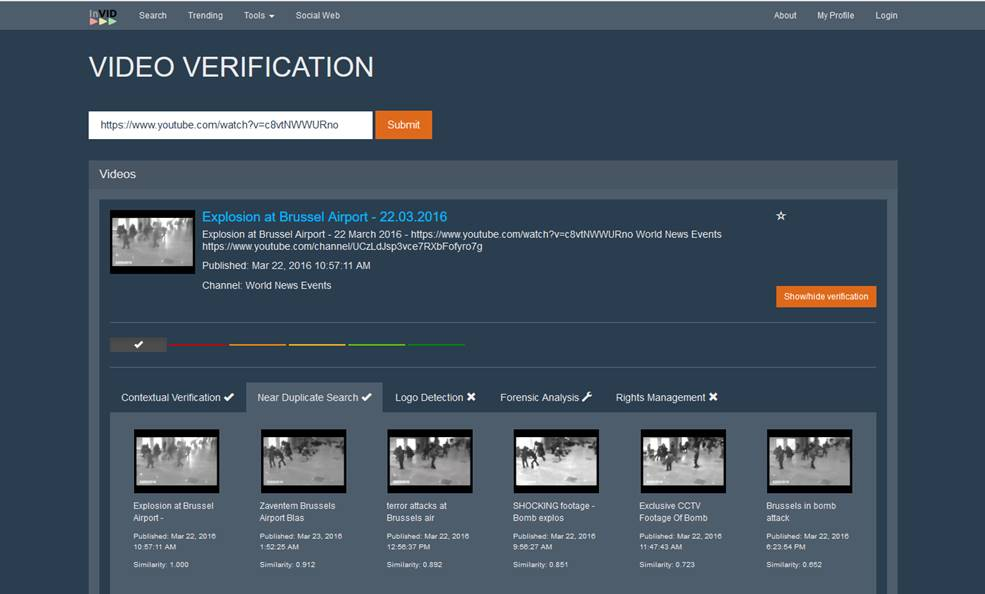 InVID Verification Application