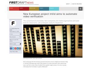 InVID at First Draft News