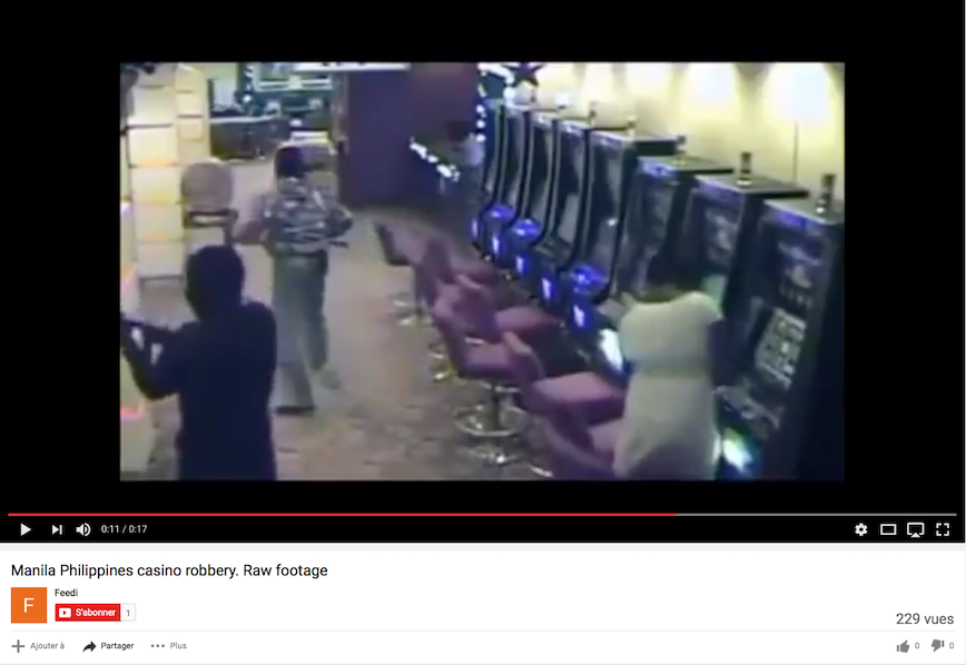 Fake video about a robbery take place in a casino in Manila