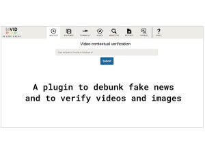 InVID verification plugin open beta release