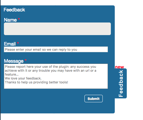 The feedback mechanism of the InVID Verification Plugin