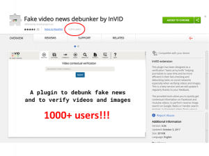More than 1000 users of the InVID verification plugin