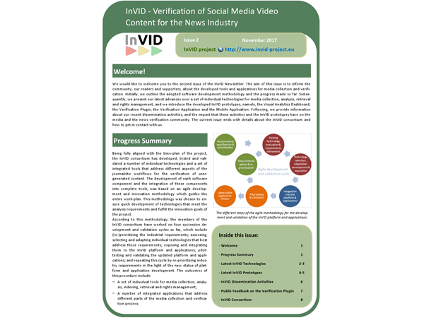 Second issue of the InVID Newsletter
