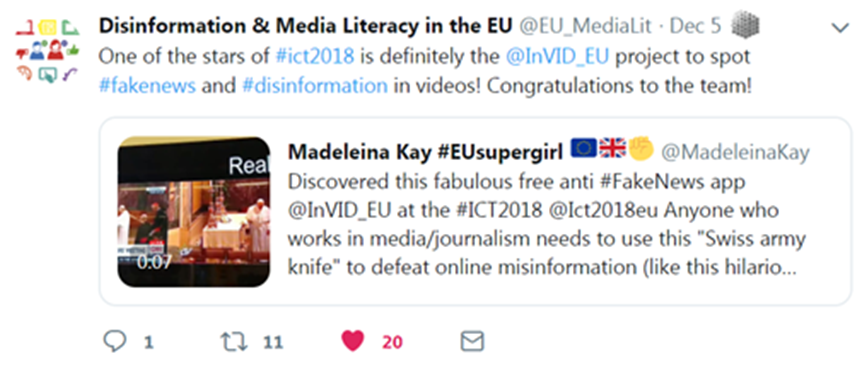 Tweet by @EU_MediaLit of 5 Dec 2018
