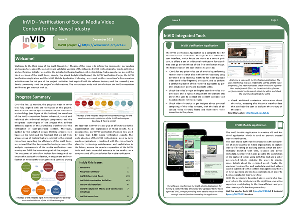 Third issue of the InVID Newsletter